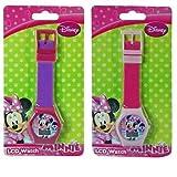 Disney Minnie Mouse Digital LCD Wrist Watch Boys Stocking Stuffer - 2 Piece