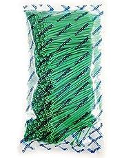 WAHSURE Nylontråd slipsar grön buntband 1 000 stycken 8 kg plastkablar slipsar 100 mm, UV-beständigt utomhussyfte