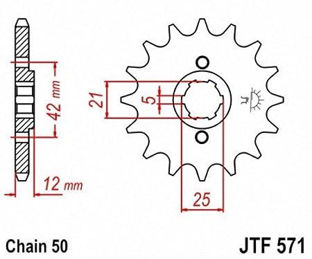 JT Sprockets JTF571.16 16T Steel Front Sprocket