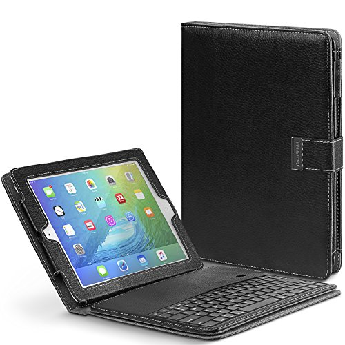GreatShield Wireless Bluetooth Detachable Keyboard Leather Cover Case with Stand for Apple iPad 2 / iPad 3 / iPad 4 (with Retina Display) - Black by GreatShield