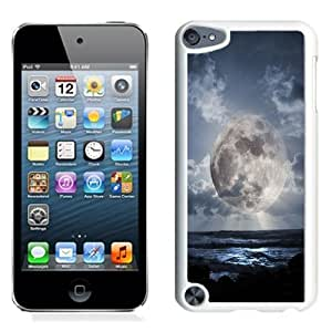 NEW Unique Custom Designed iPod Touch 5 Phone Case With Super Moon Over Sea_White Phone Case