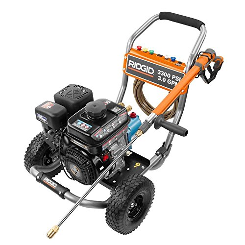 RIDGID 3,300-PSI 3-GPM SUBARU ENGINE GAS PRESSURE WASHER WITH CAT PUMP AND IDLE (3 Gpm Cat)