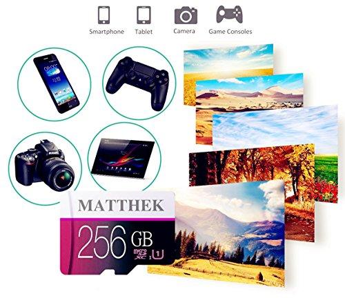 Matthek 256GB Micro SD SDXC Memory Card High Speed Class 10 With Micro SD Adapter(M239-U5) by Matthek (Image #2)