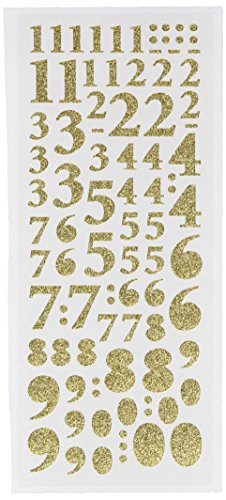 DOCrafts A8181004 Anita's Glitterations Numbers Stickers, ()