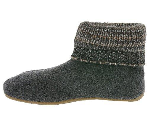 Karlos Haflinger Slipper Boot Grau