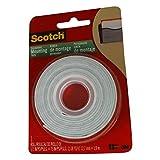 Scotch Mounting Tape, 12.7 mm x 1.9 m, White, 1 Roll