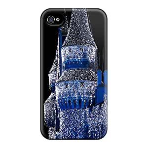 Iphone 4/4s Cover Case - Eco-friendly Packaging(christmas Castle)