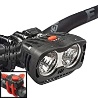 NiteRider Pro 2800 Endure Remote High Performance MTB Race Dual Head 2 LEDs Bike Light, 2800 Lumens Durable Bicycle Front Light. Excellent Off-Road MTB Beam Pattern