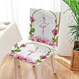 Chair Pads 2 Piece Set oratis BallDancer Gifts for Ballerinas Dance of iry Wings Theme Gazebo Roses Flower Garden Home Kitchen Mat:W17 x H17/Backrest:W17 x H36