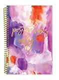 "bloom daily planners 2017-18 Academic Year Daily Planner - Passion/Goal Organizer - Monthly and Weekly Datebook and Calendar - August 2017 - July 2018 - 6"" x 8.25"" - Positive Vibes Only"