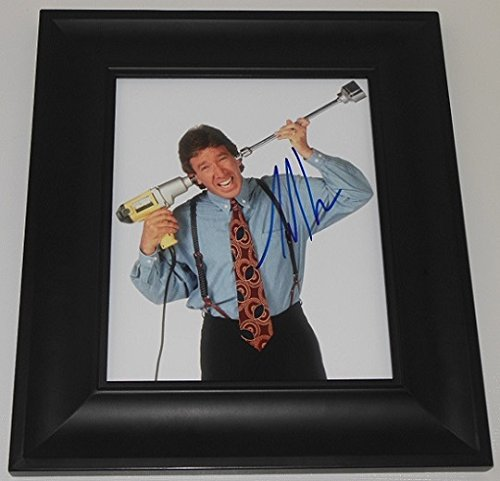 Home Improvement Tool Time 'Tim Taylor' Tim Allen Hand Signed Autographed 8x10 Glossy Photo Gallery Framed Loa