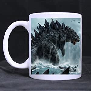 Mensuk Godzilla 2014 Awesome Custom Funny Mug Ceramic Coffee Mug 11 Oz White Mug