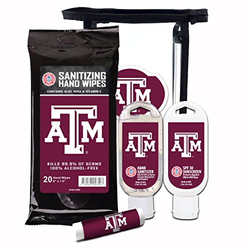 - Worthy Promotional NCAA Texas A&M Aggies 4-Piece Premium Gift Set with SPF 15 Lip Balm, Sanitizer, Wipes, Sunscreen