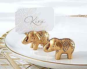 132 Lucky Golden Elephant Place Card Holders