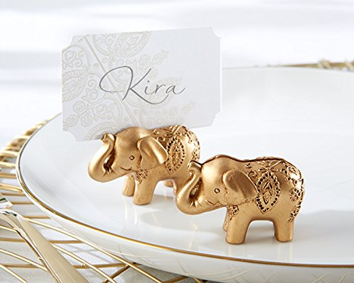 120 Lucky Golden Elephant Place Card Holders