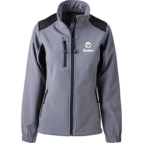 - Dunbrooke Apparel NFL Pittsburgh Steelers Women's Softshell Jacket, Small, Graphite