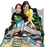 Kids Blanket with Kids Book, Educational Toy for Boys - Learn to Read Kid Toy Includes: Blanket for Kids + Story Book + FREE Audio Book - Great Gift for Boys & Kids