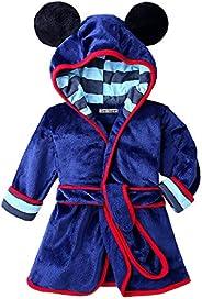 God Sweet Baby Boys Girls Toddle Winter Flannel Bathrobe Hooded