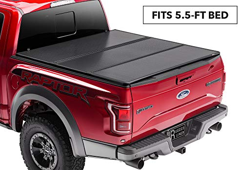 Rugged Liner Premium Hard Folding Truck Bed Tonneau Cover | HC-TUN5514 | fits 14-18 Toyota Tundra 5.5ft. (with or w/o utility track), 5'5