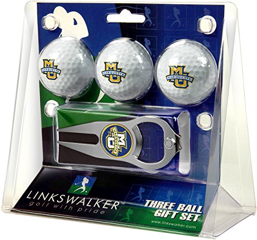 NCAA Marquette Golden Eagles - 3 Ball Gift Pack with Hat Trick Divot Tool