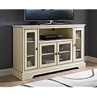 WE Furniture AZ52C32AWH Highboy TV Stand