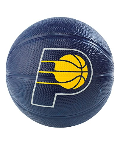 Spalding NBA Indiana Pacers NBA Primary Team Outdoor Rubber Basketballteam Logo, Navy Blue, N by Spalding