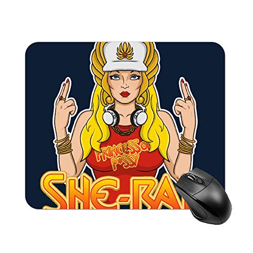 Yishour Mouse Pad She Rap Mouse Mat, Cute Mouse Mat for Laptop, Computer, Pc, Keyboard
