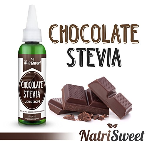 NatriSweet Chocolate Stevia Liquid Drops (2 fl oz / 60 Milliliter) | Zero-Calorie Natural Sugar Substitute | Highly Concentrated Stevia Extract | Naturally ()