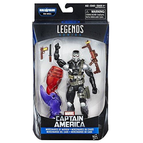 Demolition Man 6 inch Action Figure Marvel Legends Captain America Mercenaries of Mayhem Red skull build a figure