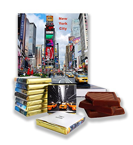 DA CHOCOLATE Candy Souvenir NEW YORK CITY Chocolate Gift Set 5x5in 1 box (Times Square - New Queens Center York