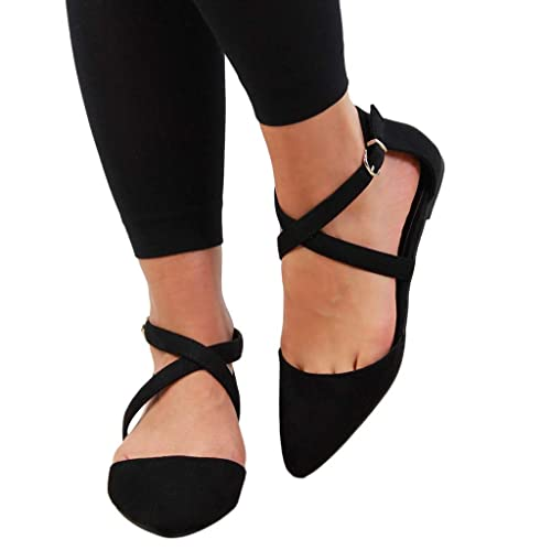 Women Buckle strap Block Heels Rhinestones Round Toe Shallow Mouth Elegant Shoes
