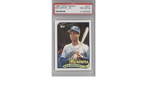39647c2c67 Amazon.com: Ken Griffey Jr. PSA GRADED 10 (Baseball Card) 1989 Topps Traded  - Box Set [Base] #41T: Collectibles & Fine Art