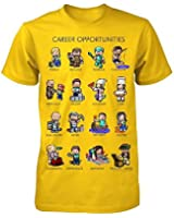 Minecraft Career Opportunities Big Boys Youth T-Shirt - Yellow