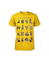 Minecraft Career Opportunities Youth Yellow Shirt, Large