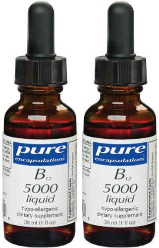 Pure Encapsulations - B12 5000 Liquid 1oz - 2 Pack