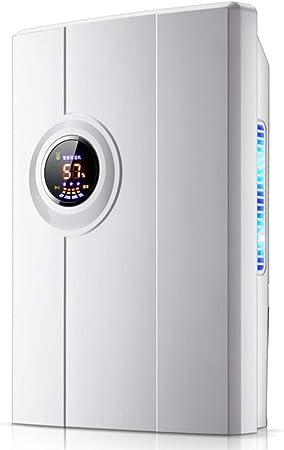 DW&HX Pequeño Electrico Deshumidificador, Compacto Y Portátil Silencioso Deshumidificadors para clóset,Dormitorio,Cuarto de baño,Sótano y pequeña Oficina en casa-Blanco: Amazon.es: Hogar