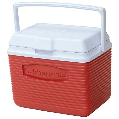 Rubbermaid Cooler, 10 Quart, Red FG2A1104MODRD