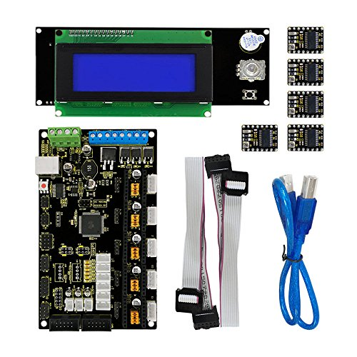 3D Printer Kit for Arduino MKS base V1.2+2004LCD Control+8825 Driver+USB by Aigh Auality shop