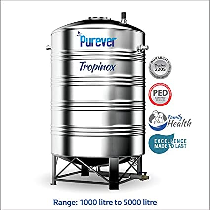 Buy Tropinox Stainless Steel Water Tank 4000 Online At Low Prices In India Amazon In