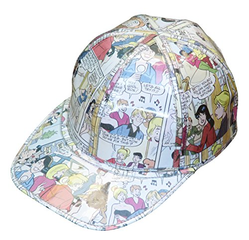 Cap hat made from Archie comics magazine paper - FREE SHIPPING - humor humorist betty and veronica vintage retro ethical fun present presents inspiring alternative ideas functional beautiful