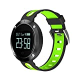 LightSame 2018 IP67 Waterproof Smart Sports Watch Blood Pressure Heart Rate Monitor Sports Tracker Touch Screen Smart Band Pedometer with Sleep Monitor Fitness Tracker (Black-Green)