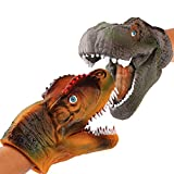 JoyJon Dinosaur Hand Puppet Soft Rubber Realistic Spines Dragon Dinosaur Tyrannosaurus Toy for Kids Adult Hallowmas