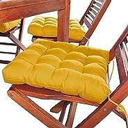 Assento Para Cadeira Futton 40x40 Cm - Mostarda