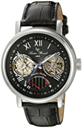 Lucien Piccard Men's LP-15039-01 Matador Analog Display Automatic Self Wind Black Watch