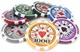 500 14g Dollar High Roller Casino Poker Chips Set Model HR With Aluminum Case
