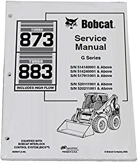 amazon com bobcat 873 skid steer complete shop service manual rh amazon com Bobcat 873 Specs bobcat 873 service manual pdf
