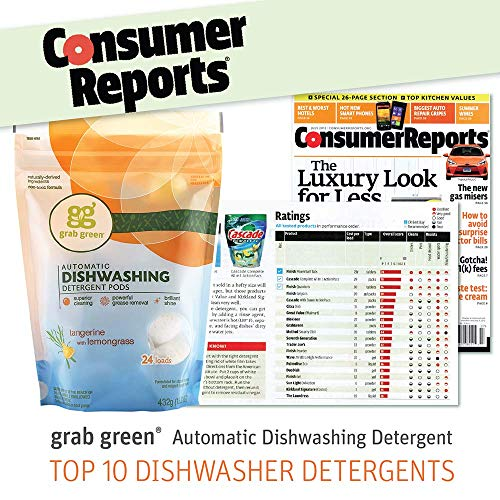 Grab Green Natural Automatic Dishwashing Detergent Pods, Fragrance Free, 2 Loads, 250 Count Hospitality Size by Grab Green (Image #1)