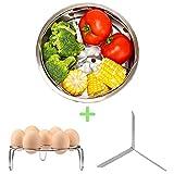 NeoJoy Steamer Basket for Instant Pot Accessories 6 Qt 8 Quart with Pressure Cooker Egg Rack Trivet