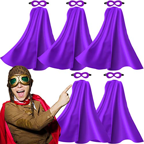 iROLEWIN Adult-Sized Superhero Capes with Masks Set Costumes