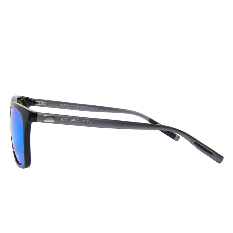 MERRY'S Unisex Polarized Aluminum Sunglasses Vintage Sun Glasses For Men/Women S8286 (Blue, 56) by MERRY'S (Image #3)